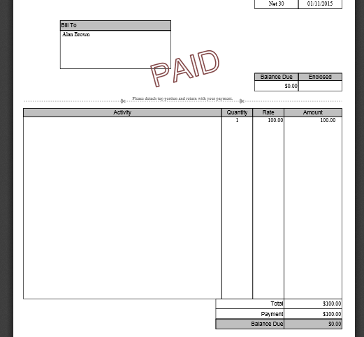 How to Print a Paid Receipt – Paid Receipt